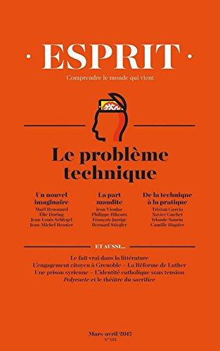 Livre occasion Esprit, N° 433, Mars-Avril 2017 : Repenser la technique