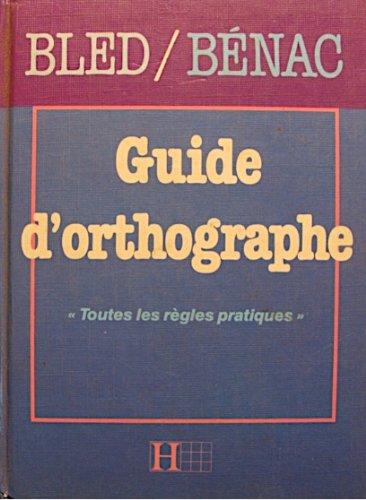 Guide d'orthographe Hachette