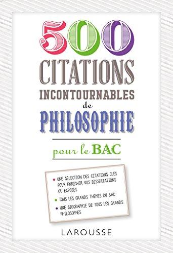 500 citations incontournables de philosophie
