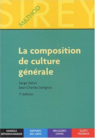 La composition de culture générale