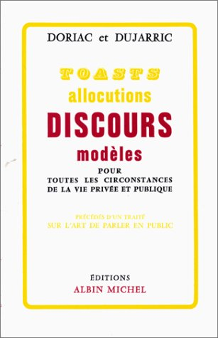 TOASTS ALLOCUTIONS DISCOURS MODELES