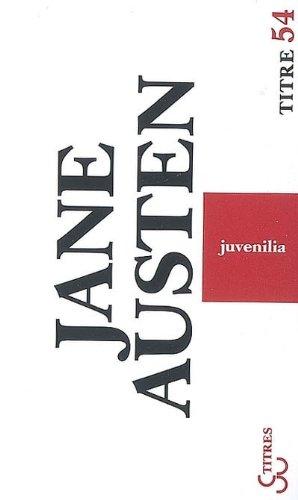 Livre occasion Juvenilia : Et autres textes