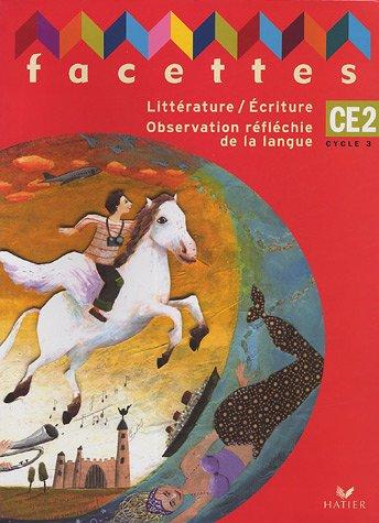 Facettes CE2 Cycle 3 : Littérature/Ecriture Observation réfléchie de la langue