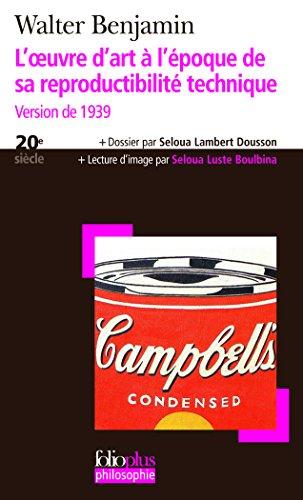 Livre occasion L'?uvre d'art à l'époque de sa reproductibilité technique: Version de 1939